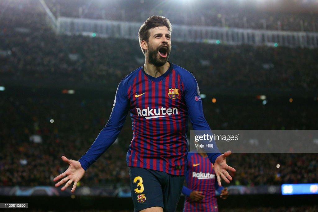 FC Barcelona v Olympique Lyonnais - UEFA Champions League Round of 16: Second Leg : News Photo