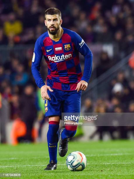 Gerard Pique of FC Barcelona during the Liga match between Barcelona and Mallorca on December 7, 2019 in Barcelona, Spain.