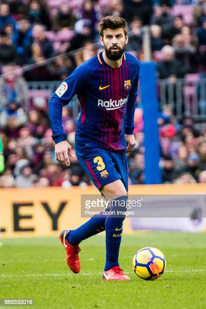 Gerard Pique of FC Barcelona in action during the La Liga 201718 match between FC Barcelona and RC Celta de Vigo at Camp Nou Stadium on 02 December...