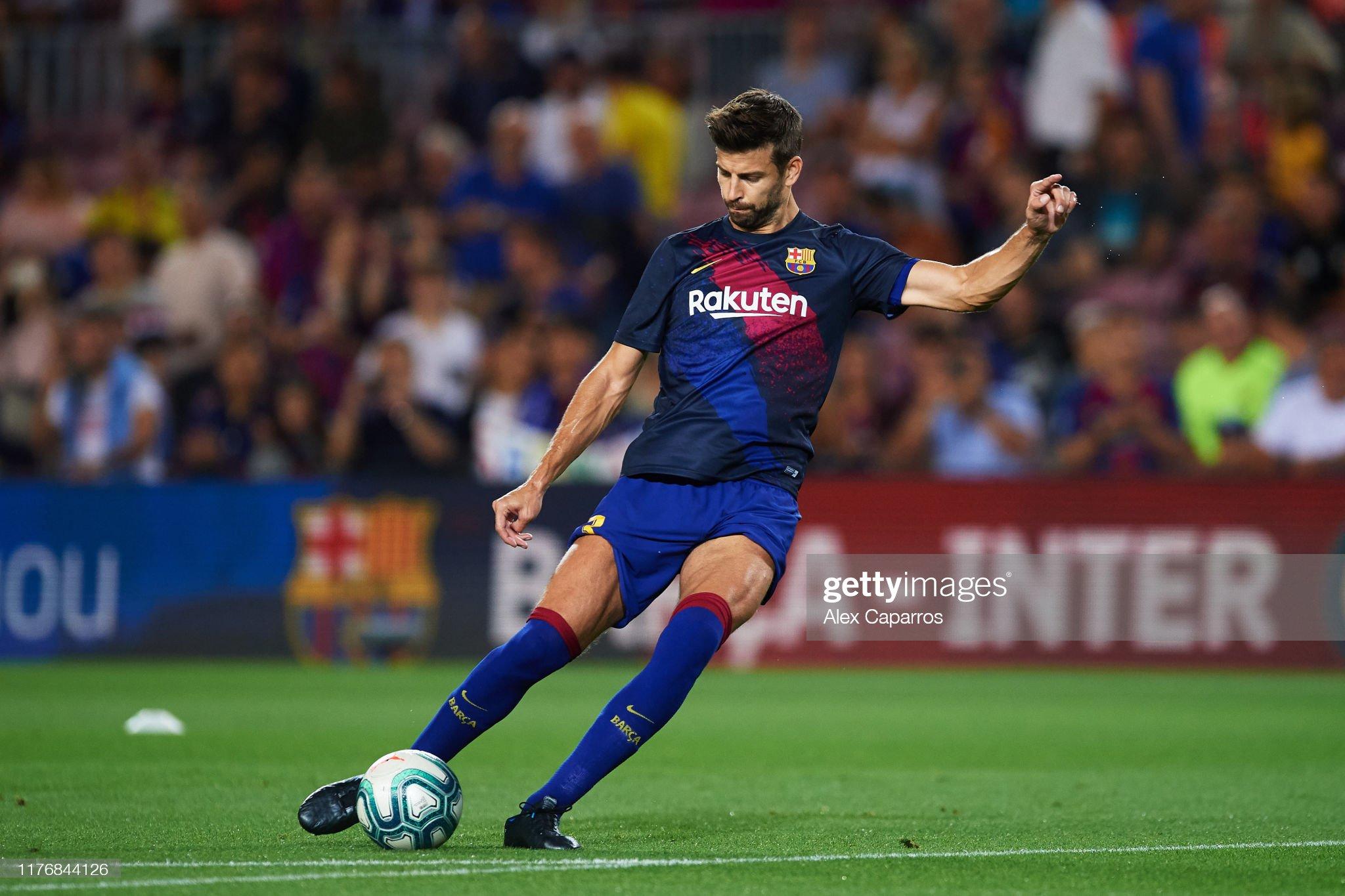 صور مباراة : برشلونة - فياريال 2-1 ( 24-09-2019 )  Gerard-pique-of-fc-barcelona-warms-up-before-the-liga-match-between-picture-id1176844126?s=2048x2048