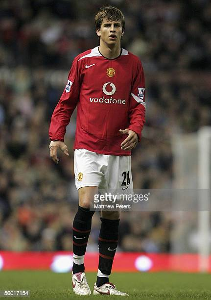 Gerard Pique of Manchester United in action during the Carling Cup third round match between Manchester United and Barnet at Old Trafford on October...