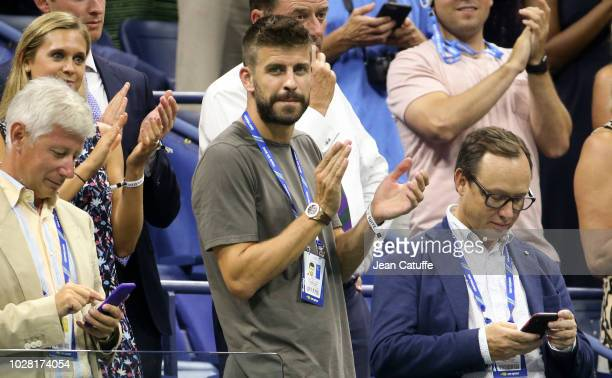 Gerard Pique who as CEO of Kosmos just bought the rights for the future Davis Cup attends the women's semifinals on day 11 of the 2018 tennis US Open...