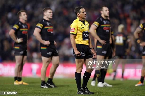 Gerard Sutton looks on during the round seven NRL match between the Penrith Panthers and the Newcastle Knights at BlueBet Stadium, on April 22, 2021...