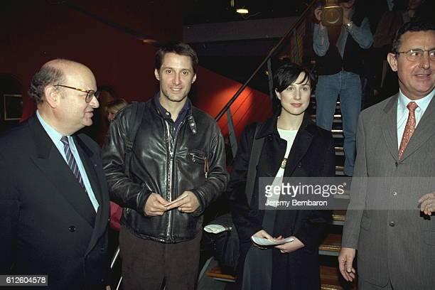 Gerard Unger CEO of Mediavision Antoine de Cau nes Elsa Zylberstein and Jean Pierre Chambon