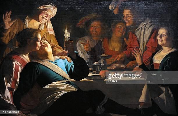 Gerard van Honthorst Flemish painter Merry Company 1622 Alte Pinakothek Munich Germany