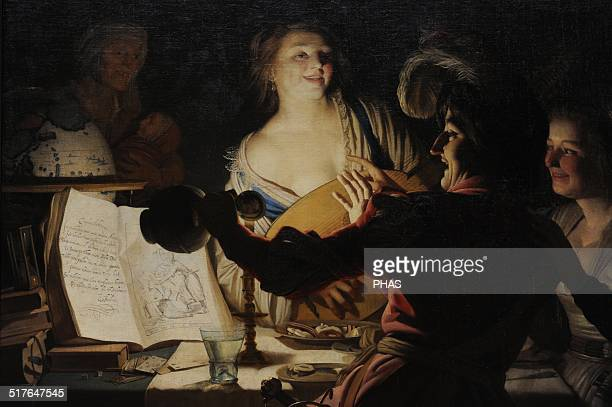 Gerard van Honthorst Flemish painter The Debauched Student 1625 Alte Pinakothek Munich Germany