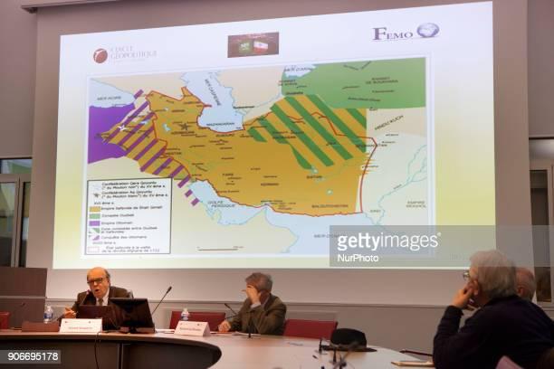 Gerard Vespierre, Paris, Universite Dauphine, - Gerard Vespierre, Associate Researcher at the Fondation d Etudes pour le-Orient , speaks in a...