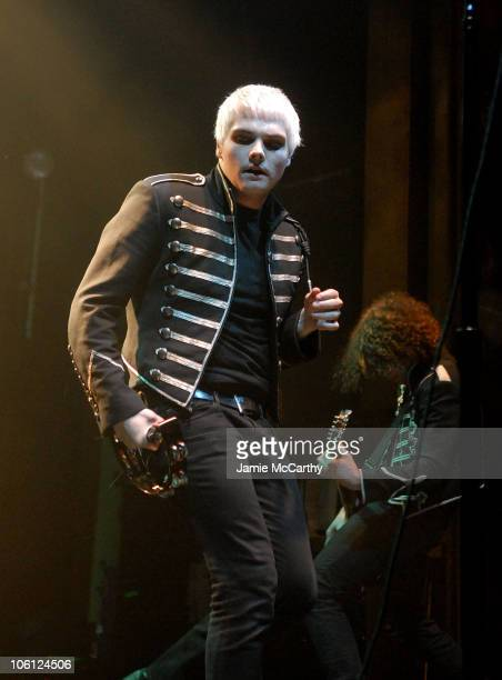 Gerard Way and Ray Toro of My Chemical Romance during My Chemical Romance in Concert at Webster Hall October 24 2006 at Webster Hall in New York City...