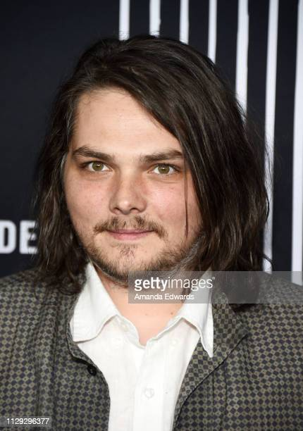 Gerard Way arrives at the premiere of Netflix's The Umbrella Academy at the ArcLight Hollywood on February 12 2019 in Hollywood California