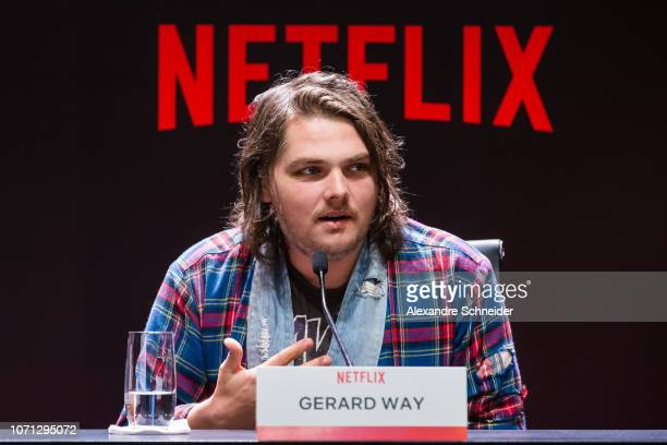 Gerard Way attends the Netflix Original Series The Umbrella Academy Press Conference on December 10 2018 in Sao Paulo Brazil