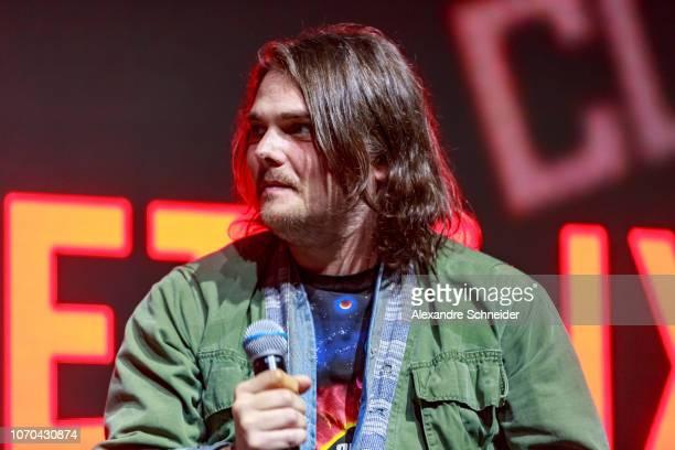 Gerard Way attends the Netflix Original The Umbrella Academy panel at ComicCon São Paulo on December 8 2018 in Sao Paulo Brazil