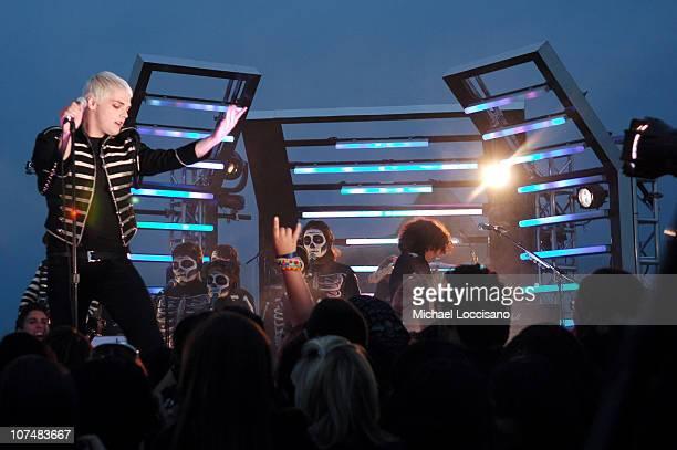 Gerard Way of My Chemical Romance during 2006 MTV Video Music Awards PreShow at Radio City Music Hall in New York City New York United States