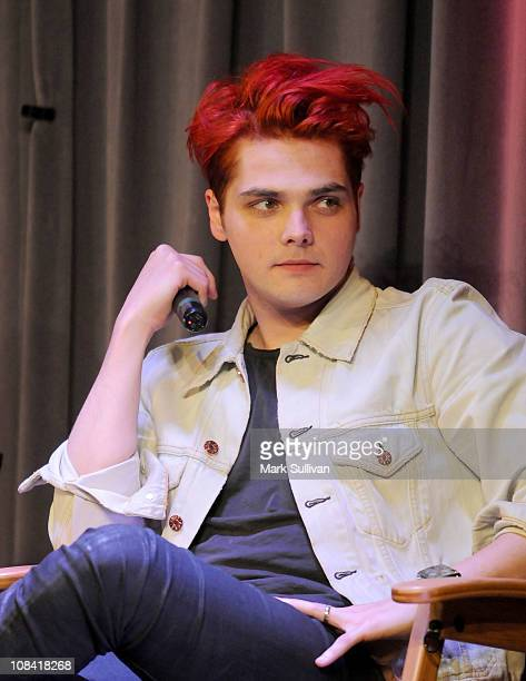 Gerard Way of My Chemical Romance during American Express Presents My Chemical Romance at The GRAMMY Museum on January 26 2011 in Los Angeles...