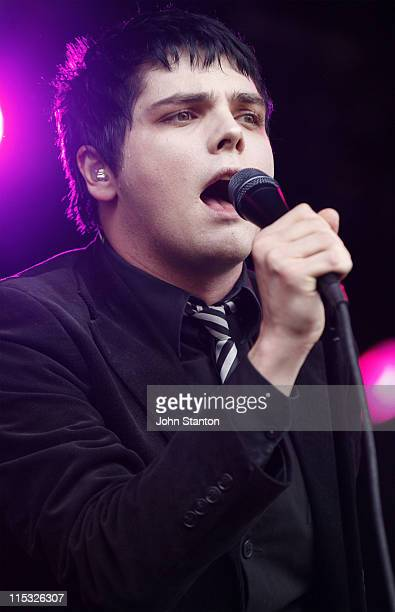 Gerard Way of My Chemical Romance during Big Day Out Sydney January 25 2007 at Sydney Showground in Sydney NSW Australia