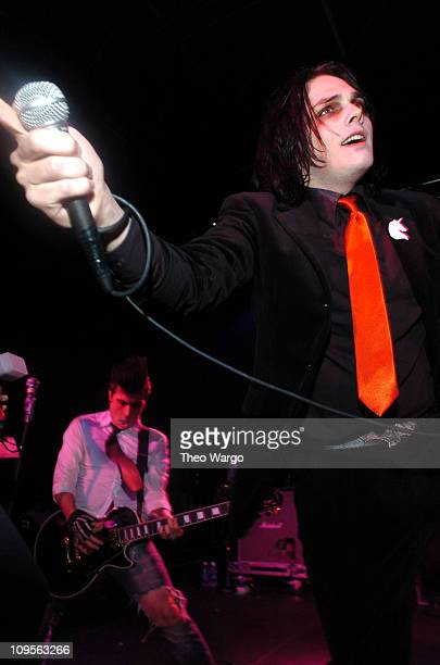 Gerard Way of My Chemical Romance during K Rock Concert for Tsunami Relief Show at Starland Ballroom in Sayrville New Jersey United States