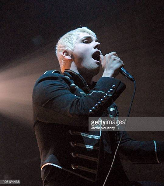Gerard Way of My Chemical Romance during My Chemical Romance in Concert at Webster Hall October 24 2006 at Webster Hall in New York City New York...