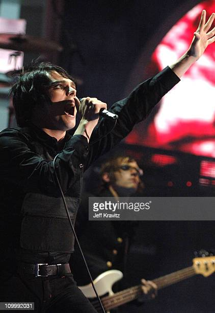 Gerard Way of My Chemical Romance performs Helena