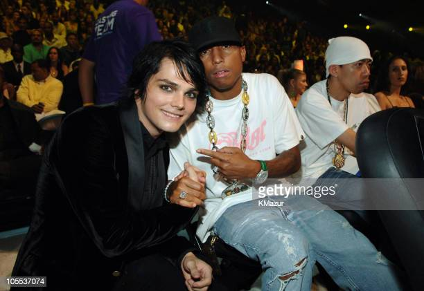 Gerard Way of My Chemical Romance with Pharrell Williams