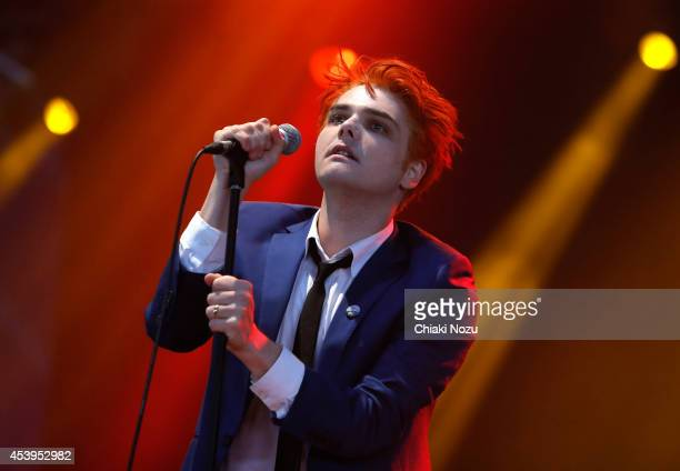 Gerard Way performs on Day 1 of the Reading Festival at Richfield Avenue on August 22 2014 in Reading England