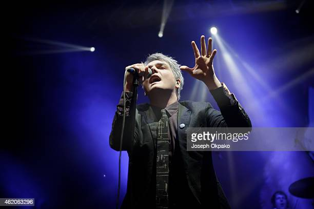 Gerard Way performs on stage at Brixton Academy on January 23 2015 in London United Kingdom