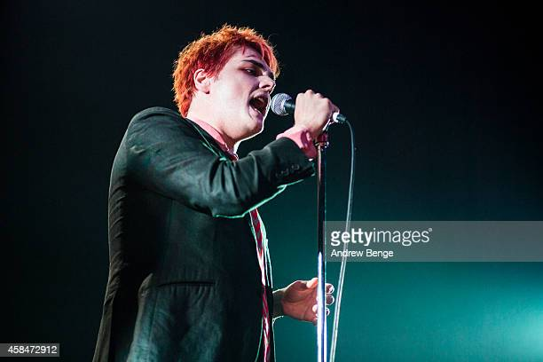 Gerard Way performs on stage at The Ritz Manchester on November 5 2014 in Manchester United Kingdom