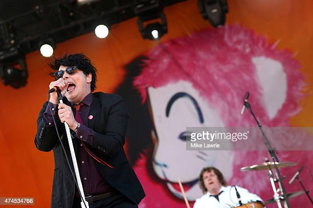 Gerard Way performs onstage during Boston Calling Music Festival Day 2 at Boston City Hall Plaza on May 23 2015 in Boston Massachusetts