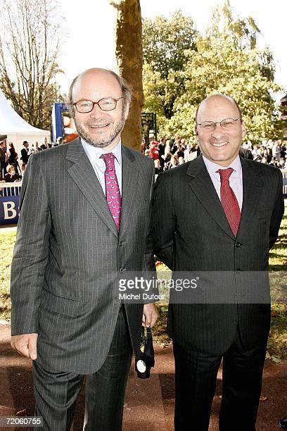 Gerard Wertheimer and Alain Wertheimer attend the Prix de l'Arc de Triomphe at the Hippodrome de Longchamp on October 1 2006 in Paris France