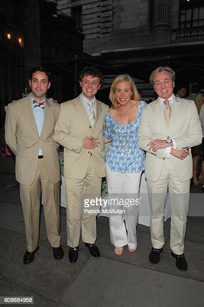 Gerardo Farias Roric Tobin Amy Hoadley and Geoffrey Bradfield attend LILLY PULITZER and THE ASSOCIATES COMMITTEE hosts A PARTY IN THE PARK benefit...