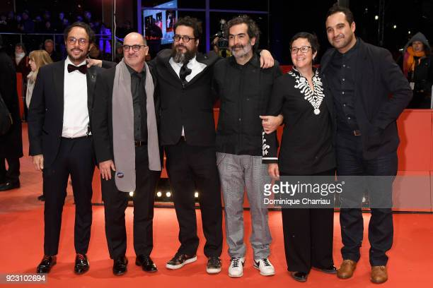 Gerardo Gatica Ramiro Ruiz Alberto Mueffelmann Yibran Asuad and Manuel Alcala attend the 'Museum' premiere during the 68th Berlinale International...