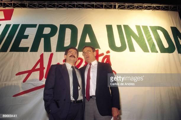 Gerardo Iglesias and Ramon Tamames IU politicians