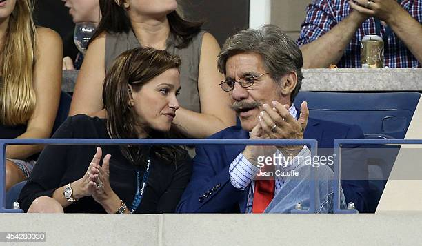 Gerardo Rivera and his wife Erica Michelle Levy attend Day 3 of the 2014 US Open at USTA Billie Jean King National Tennis Center on August 27 2014 in...