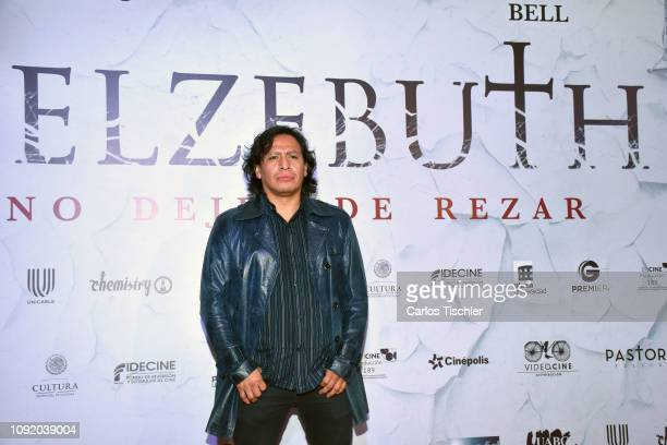 Gerardo Taracena arrives at the red carpet premiere of Belzebuth at Cinepolis Plaza Universidad on January 9 2019 in Mexico City Mexico