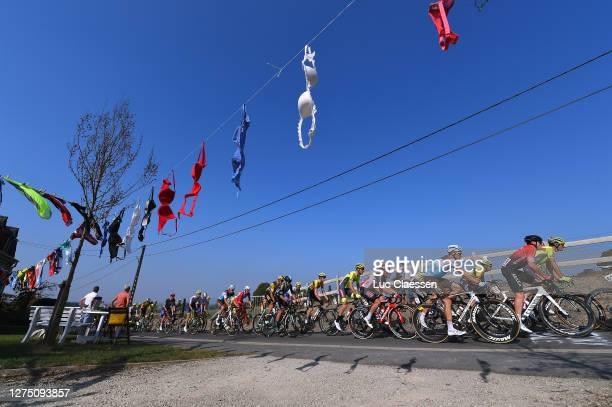 Gerben Thijssen of Belgium and Team Lotto Soudal / Maxime De Poorter of Belgium and Team Tarteletto - Isorex / Oliver Naesen of Belgium and Team Ag2R...