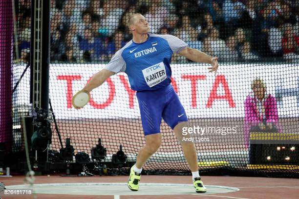 Gerd Kanter of Estonia competes in the Men's Discus qualification during day one of the 16th IAAF World Athletics Championships London 2017 at The...