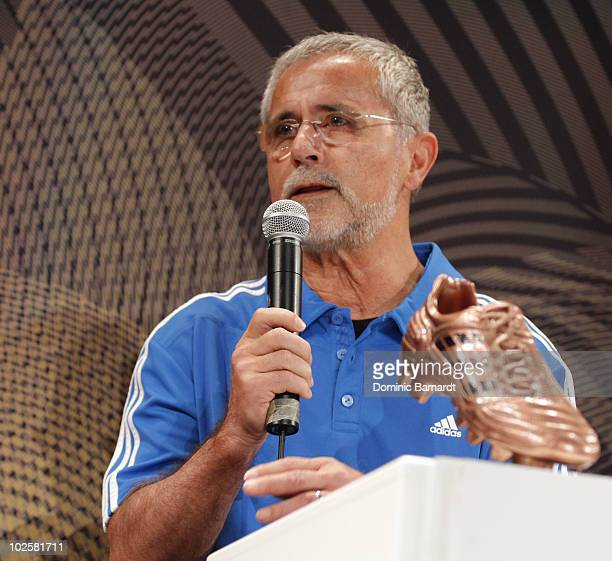 Gerd Muller during a media event discussing the Golden Boot comptetition in the FIFA 2010 World Cup held at the adidas Jo'bulani Central in Sandton...