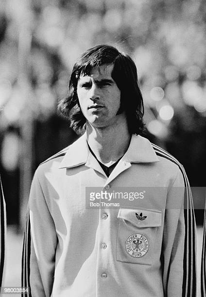 Gerd Muller of West Germany prior to the International friendly match against Brazil at the Olympic Stadium in Berlin 16th June 1973 Brazil won 10