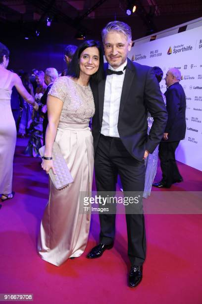 Gerd Schoenfelder and his accompaniment attend the German Sports Gala 2018 'Ball Des Sports' on February 3 2018 in Wiesbaden Germany