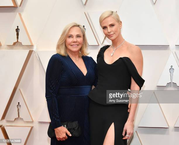 Gerda Jacoba Aletta Maritz and Charlize Theron attend the 92nd Annual Academy Awards at Hollywood and Highland on February 09, 2020 in Hollywood,...
