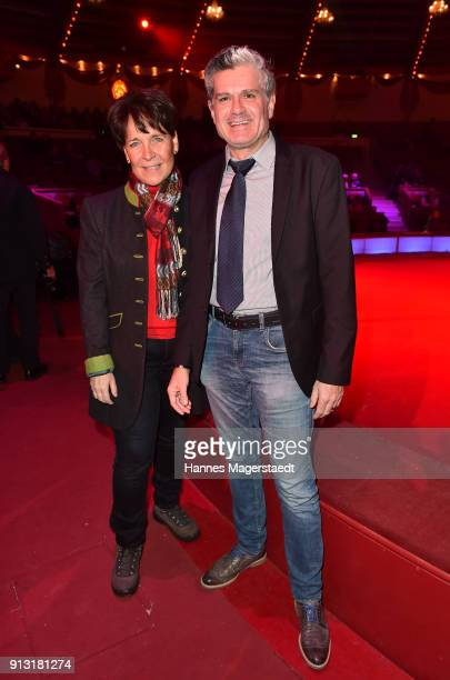 Gerda Steiner and Nino Korda during Circus Krone celebrates premiere of 'Hommage' at Circus Krone on February 1 2018 in Munich Germany