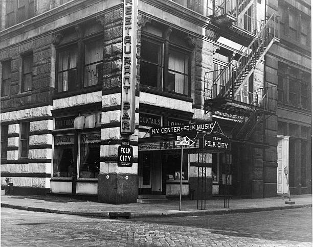 Exterior view of Gerde's Folk City nightclub and restaurant...