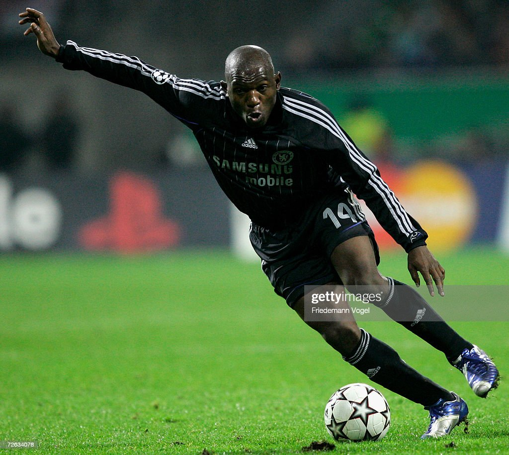 Geremi of Chelsea in action during the UEFA Champions League Group ...