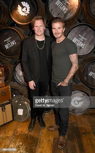 Geremy Jasper and David Beckham attend the premiere for Belstaff FilmsÕ Outlaws' during London Fashion Week at La Bodega Negra on September 21 2015...