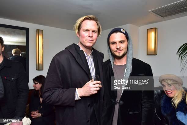 Geremy Jasper and Shiloh Fernandez attend Metrograph 2nd Anniversary Party at Metrograph on March 22 2018 in New York City