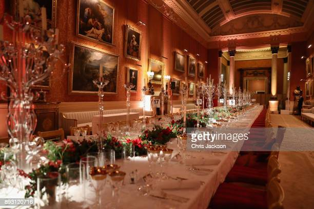 A gereral view a the 'One Million Young Lives' dinner at Buckingham Palace on December 14 2017 in London England