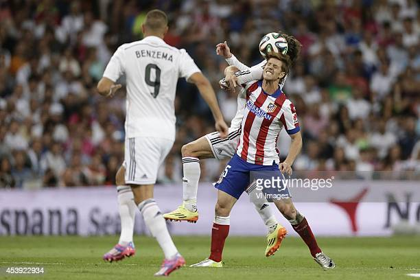 Gereth Bale of Real Madrid Cristian Ansaldi of Atletico de Madrid during the Spanisch Super Cup match between Real Madrid and Atletico Madrid at...