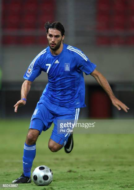 Gergios Samaras of Greece during the Group Two FIFA World Cup 2010 qualifying match between Greece and Moldova held at the Georgios Karaiskakis...