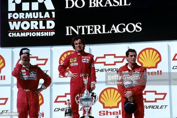 Gerhard Berger Alain Prost Ayrton Senna Grand Prix of Brazil Autodromo Jose Carlos Pace March 25 1990