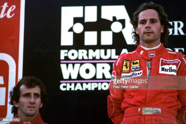 Gerhard Berger Alain Prost Grand Prix of Portugal Autodromo do Estoril September 24 1989