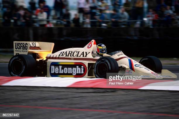Gerhard Berger ArrowsBMW A8 Grand Prix of Great Britain Silverstone Circuit 21 July 1985