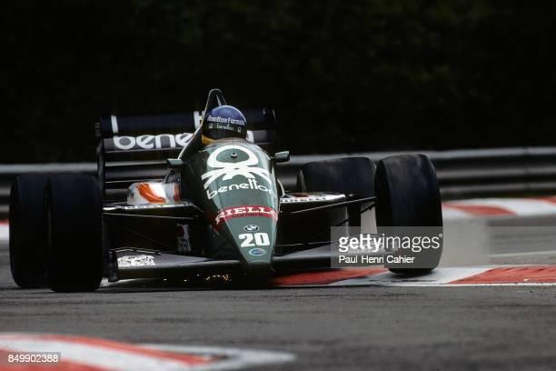 Gerhard Berger BenettonBMW B186 Grand Prix of Belgium Circuit de SpaFrancorchamps Francorchamps Beligium May 25 1986